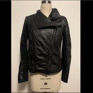 Trouve Nordstrom black leather motorcycle jacket